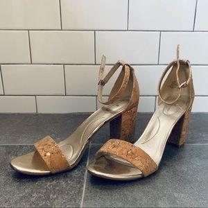 Bandolino Cork Open Toe Heels